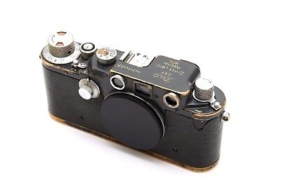 """Rare Gray Paint Leica IIIC K Wehrmacht Heer """"W.H."""" Engraved Military Camera Body"""
