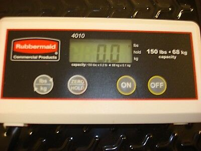 RUBBERMAID 4010-88 150 LB Capacity Digital Shipping Scale Lbs and Kgs.