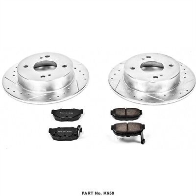 Power Stop K659 High Performance Brake Upgrade Kit Cross-Drilled and Slotted Rot