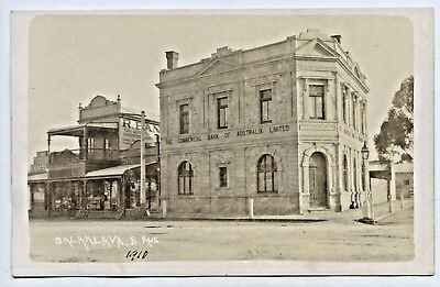 1910 Rp Postcard Just Completed Commercial Bank Of Australia Balaklava Sa K21