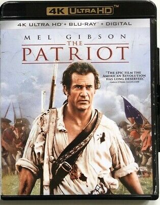 The Patriot 4K Ultra Hd Blu Ray 2 Disc + Slipcover Sleeve Free World Shipping
