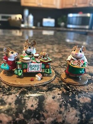 Set of wee forest folk M-246 Sugar and Spice and M-220 Bake Sale special colors