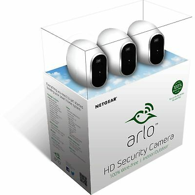 New NETGEAR Arlo Smart Home 3 wireless HD Security Camera System Indoor/Outdoor