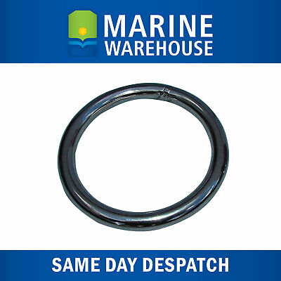 "Stainless Steel Anchor Retrieval Ring  - 10mm 3/8"" Steel - 75mm Diameter 107046"