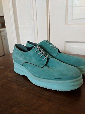 Womens teal Dries Van Noten oxford shoes size 7.5