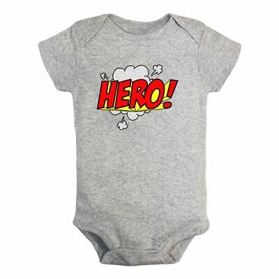 Superhero words Hero Newborn Infant Baby Romper Bodysuit Jumpsuit Outfit Clothes