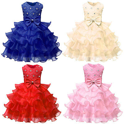 Babies Girls Flower Birthday Wedding Bridesmaid Pageant Graduation Formal Dress