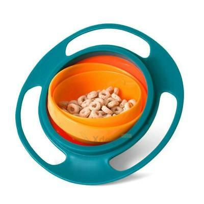Toddler Baby Feeding Dish Gyro Bowl Universal 360 Rotate Spill-Proof Bowl Dishes