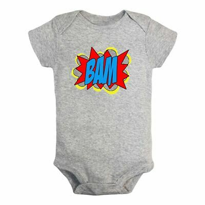 Superhero words BAM Newborn Infant Baby Romper Bodysuit Jumpsuit Outfits Clothes