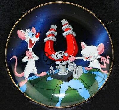 Pinky and The Brain 1995 Warner Bros Store Exclusive Collector Plate