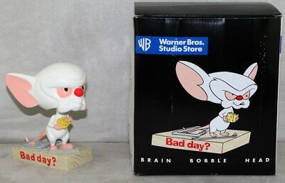 Pinky and The Brain 1997 Warner Bros Store Exclusive Brain Bobble Head Nodder