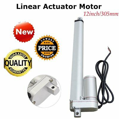 DC 12V 12'' 750N Linear Actuator Motor Adjustable Electric Heavy Duty Lifting BP