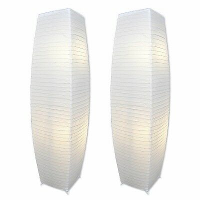 Set Of 2 Pack Floor Lamp With Light Accents Alumni Chrome And White Paper Shades