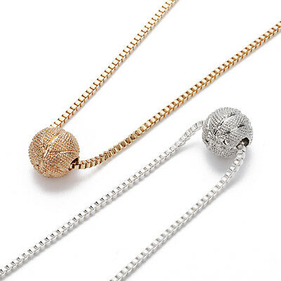 Fashion Men Jewelry KC Gold Plated 12mm Basketball Pendants Box Chain Necklaces
