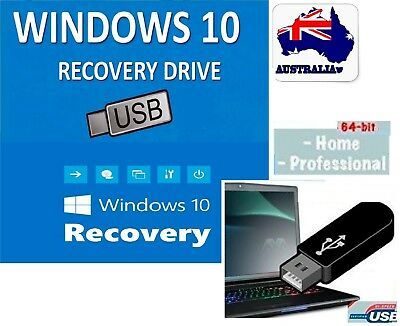 WIN 10 64 Bit OEM install System Recovery Software Disc's ON THE USB 2019 latest