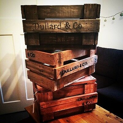Large Beautiful Rustic Wooden Crate - Vintage Fruit box Style For Retail Display