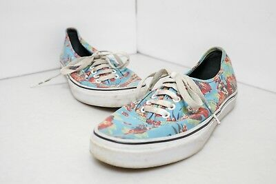 409045f309 Vans Star Wars Mens Size 9 Yoda Aloha Blue Floral Canvas Sport Skate Shoes