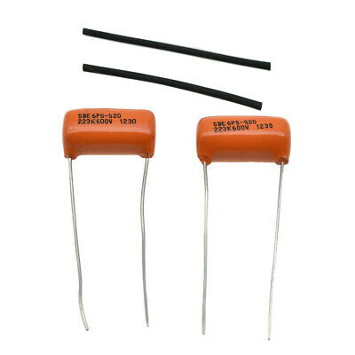 2XGitarre Bass Sprague Orange Drop Kondensatoren verschiedeneGrößen Ton Caps