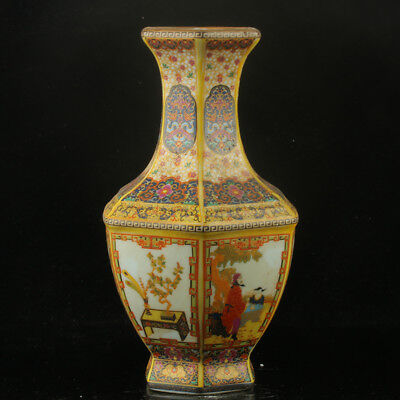 Chinese Enamel Porcelain Hand Painted  Vase Made During The Kangxi Period RF004