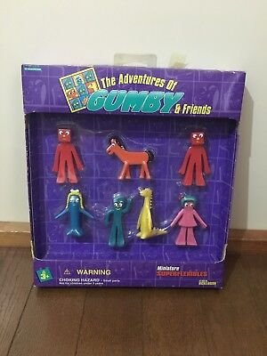 The Adventures of Gumby & Friends Miniature Figurines Superflexies 1995