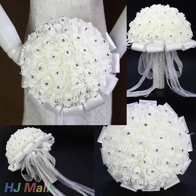 Elegant Bridal Bouquet Accessories Bridesmaid Artifical Flower Wedding