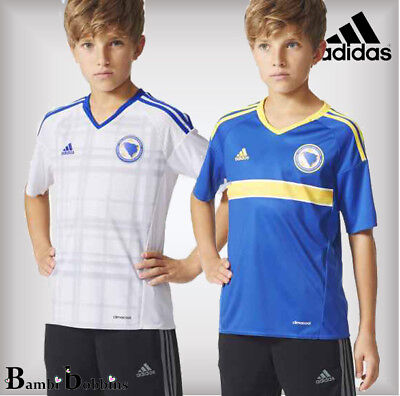 Adidas Boys Bosnia and Herzegovina Football T-Shirt Age 7-8-9-10-11-12-16 Years