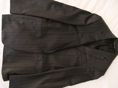 Genuine CANALI MILANO Men's Charcoal Wool 3 Piece Suit- Size 48R