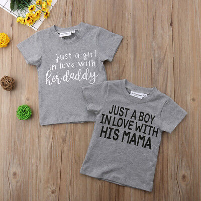 Newborn Kids Baby Girls Boys Short Sleeve Tops T-shirts Blouse Tee Gray Clothes