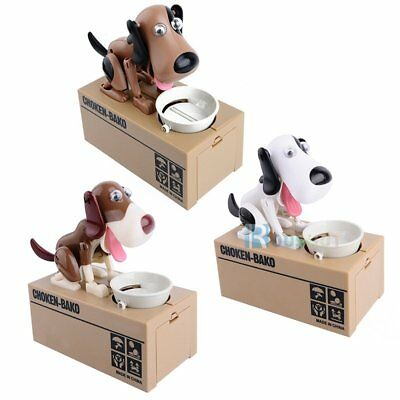Top Doggy Style Stealing Coins Box Piggy Bank Storage Money Case Kids Gift【AU】