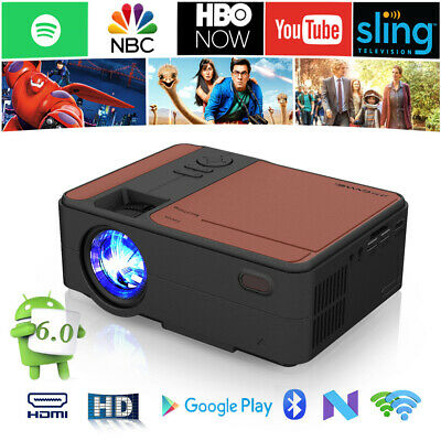 Portable Smart Android WIFI Home Cinema Projector LCD HD Video Movie HDMI VGA TV