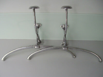 NOS. Pair Of Unusual Japanese Ships Aluminium Coat Hook / Scarf / Hat Hangers