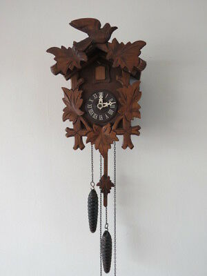 Vintage Regula Black Forest Weight Driven Cuckoo Clock