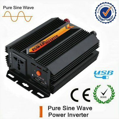 800W Max 1000W Power Inverter USB Off Grid DC 12V to AC 240V Power Display HP
