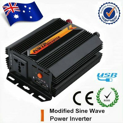 1000W Max 800W Power Inverter Modified Sine Wave DC12V to AC240V Power HP