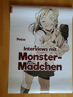 Interview mit Monstermädchen Riesenposter Poster Manga Anime RAR Shoco