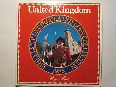 1985 United Kingdom Uncirculated Coin Collection, Royal Mint!!!  Free Shipping!!