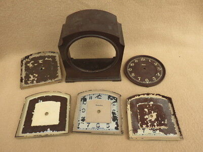 Collection Of Vintage Bakelite Clock Dials And Case