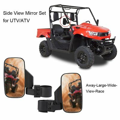 Pair/Set Shatterproof Side View Mirror Set for UTV ATV Offroad Wide View Race S