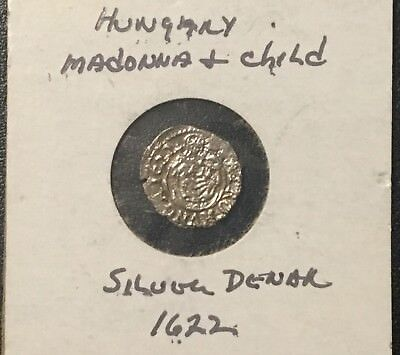 1622 Hungary Madonna And Child One Silver Denar!