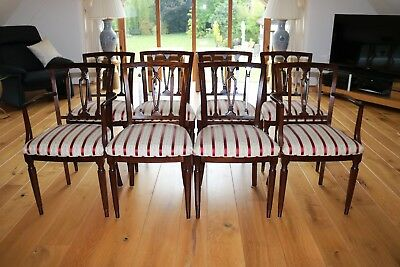 Set of 8 mahogany Antique reproduction Dining chairs in excellent condition
