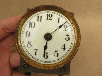 Antique Enamel Torsion Clock Dial Bezel And Hands
