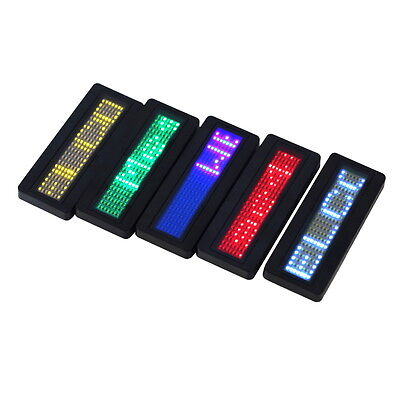 LED Programmable Scrolling Name Message Badge Tag Digital Display English FDWU