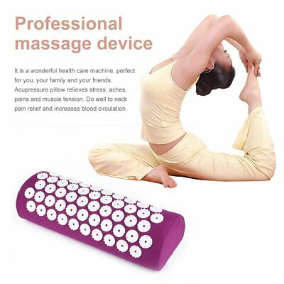 Massager Pillow Relieve Stress Pain Acupuncture Spike Protect Neck Health Q9WU