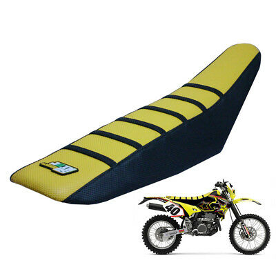 Gold Motorcycle Ribbed Gripper Seat Cover for Suzuki RMZ250 2004-17 RM85 2002-17