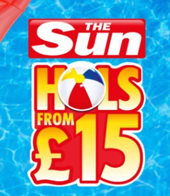 The Sun Holidays from £15 5 Booking Codes Online Code words Tokens  savers 2018