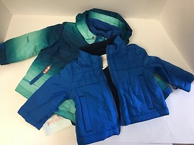 NWT CAT & JACK Toddler 3 In 1 Winter Coat/Fleece/JacketSet Blues Size 12 Months