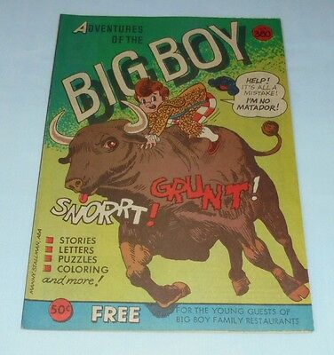 Adventures Of The Big Boy Restaurant Comic Book #380 1988 Mexican Matador