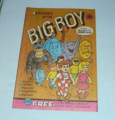 Adventures Of The Big Boy Restaurant Comic Book #383 1989 Dolly Friends Safari