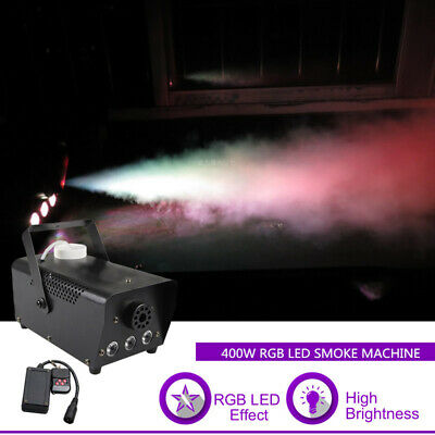 Mini RGB LED Fog Smoke Machines Remote Party Show Stage Light Atmospheric Effect