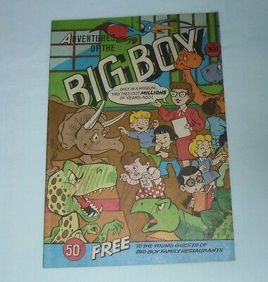 Adventures Of The Big Boy Restaurant Comic Book #391 Museum Secret Cave 1989